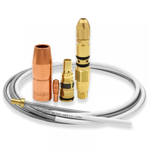 AccuLock S consumables family including contact tip, nozzle, diffuser, liner and power pin