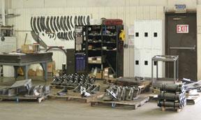 Image of inside the shop of OEM Fabricators