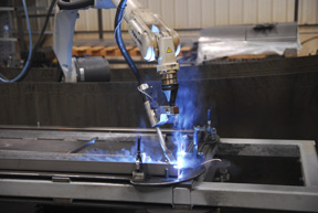 Image of a robotic application using a wire brake