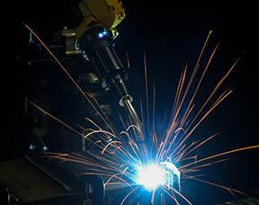 Tregaskiss TOUGH GUN TA3 robotic air-cooled MIG gun welding in automation application