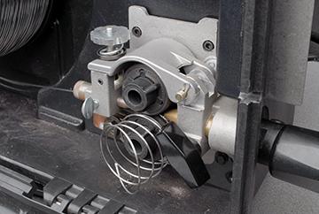 Image of welding wire bird-nesting in drive rolls