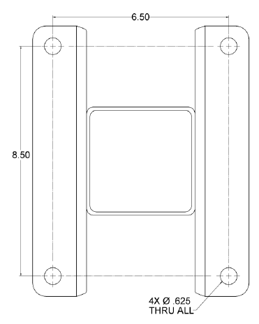Reamer Base Plate dimensions