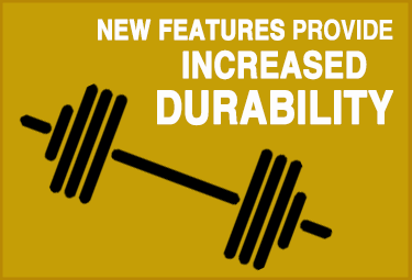 Infographic explaining new product features provide increased durability