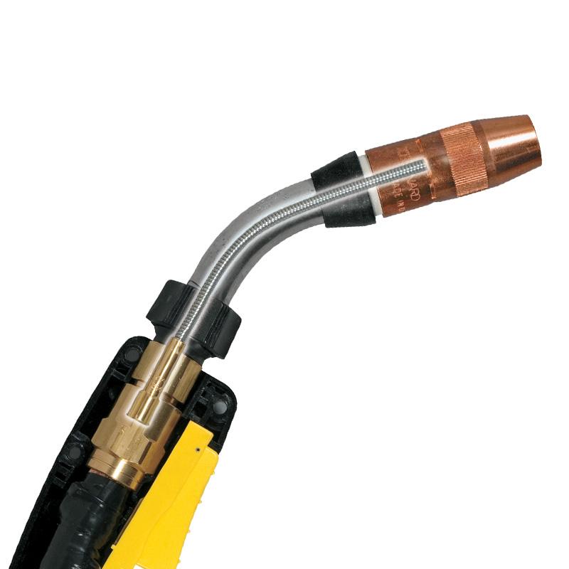 Cutaway of a jump liner installed inside a MIG gun