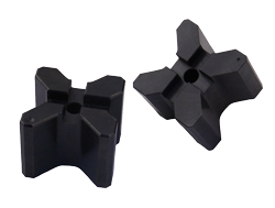 Group of two 4-sided v-blocks for TOUGH GUN reamer robotic nozzle cleaning stations