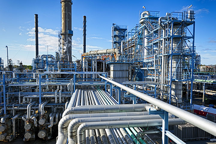 Large gas processing facility